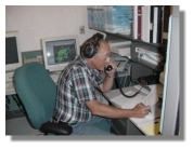 Dave Weaver, KB5SBP, at the Skywarn Net Control station